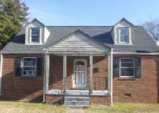Foreclosure Home in Petersburg, VA, 23805,  BERKELEY AVE ID: F4237248